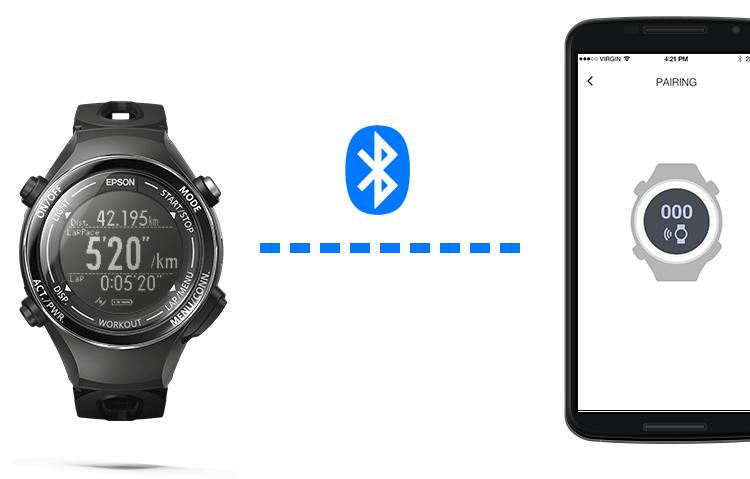 Pair your watch with the Epson View app