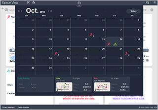 Search data using the calendar