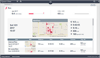 Search for workout data on the dashboard
