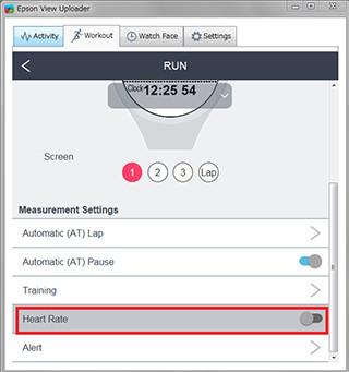 Modify your workout settings